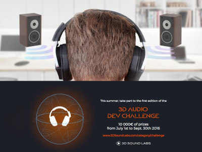3D Sound Labs Launches Challenge for 3D Spatial Audio Application Development