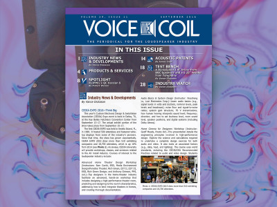 Think Big with Voice Coil's September 2016 Edition Now Available
