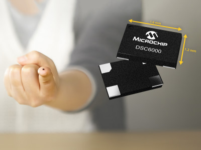 Microchip Introduces Industry's Smallest Package and Lowest Power MEMS Oscillators in DSC6000 Family