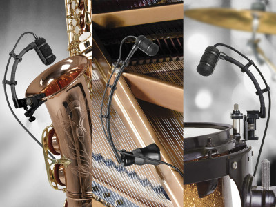 Audio-Technica Now Shipping ATM350a Microphone Systems with UniMount Components for Musical Instruments