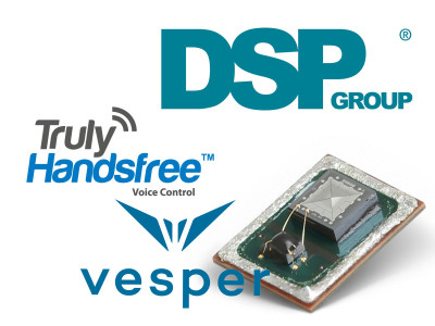 Vesper and DSP Group Demo Near-Zero-Power Voice-Activation for Battery-Powered Devices at CES 2017