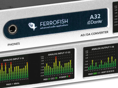 Ferrofish A32 Dante AD/DA Converter Now Available