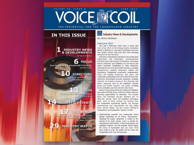 Essential Loudspeaker Industry Content in Voice Coil June 2017