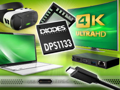 Diodes Introduces Power Switch to Fully Support USB Type-C Power Delivery and Fast-Role Swap