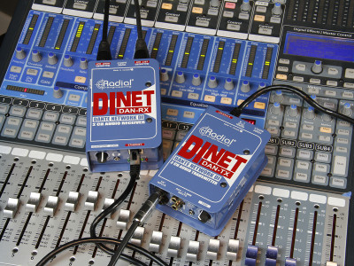 Radial Starts Shipping Di-NET DAN-TX and DiNET DAN-RX Dante Enabled Direct Boxes