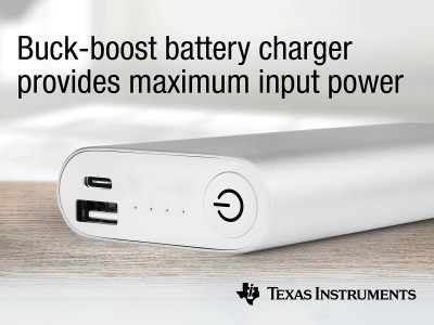 TI Introduces Single-Chip Buck-Boost Battery Charge Controllers Enabling USB Type-C and USB Power Delivery Support