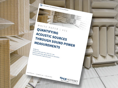 "FREE white paper, ""Quantifying Acoustic Sources Through Sound Power Measurements"""