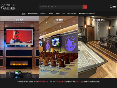Acoustic Geometry Launches New Website