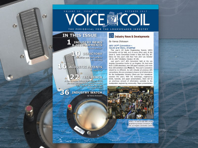 Get Ready to Join the Loudspeaker Industry with Voice Coil October 2017