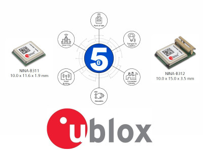 u‑blox Launches NINA-B3 Full-featured Bluetooth 5 Modules