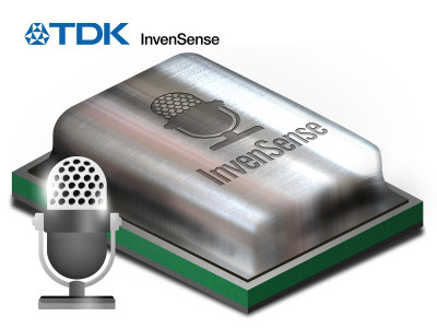TDK InvenSense MEMS Microphones Available with Synaptics AudioSmart Solution