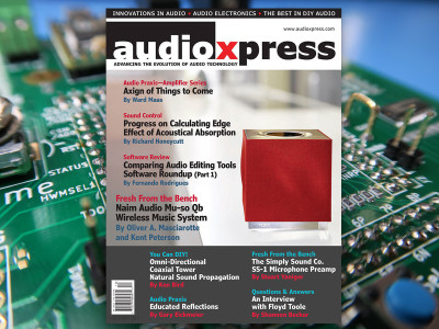 The Latest on Audio Technology, Speaker Design, and Acoustic Perspectives with audioXpress December 2017!