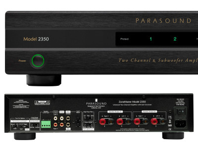Parasound Introduces ZoneMaster 2350 Class D Stereo Amplifier With Crossover For Subwoofers