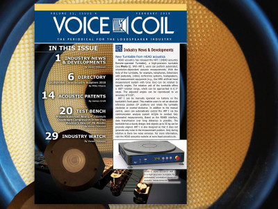 Voice Coil February 2018 Now Available with All the Industry News and Developments!