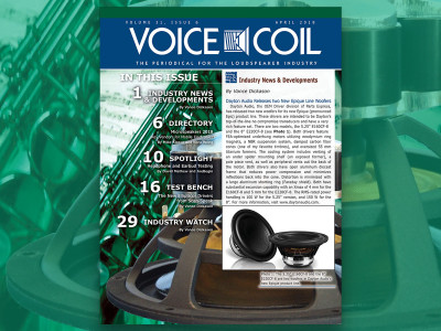 Another Issue of your Favorite Loudspeaker Industry Periodical Now Available