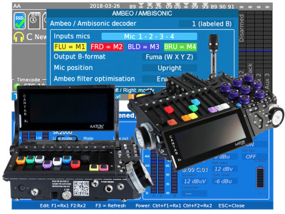 Aaton-Transvideo to Demonstrate AMBEO and Immersive Audio Support at NAB 2018