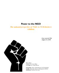 Power to the ngo