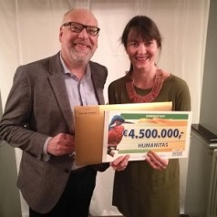 Humanitas ontvangt 4,5 miljoen euro van Postcode Loterij