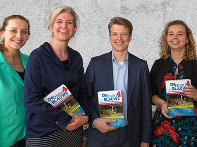(vlnr) Kim Verhoef, Sara Sprakel, Job Terlingen en Evi van den Oever van BDO.