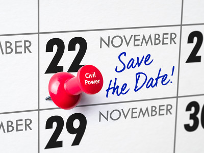 Save the date: op 22 november gaan we het hebben over onze Civil Power