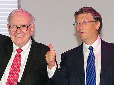 Warren Buffet en Bill Gates