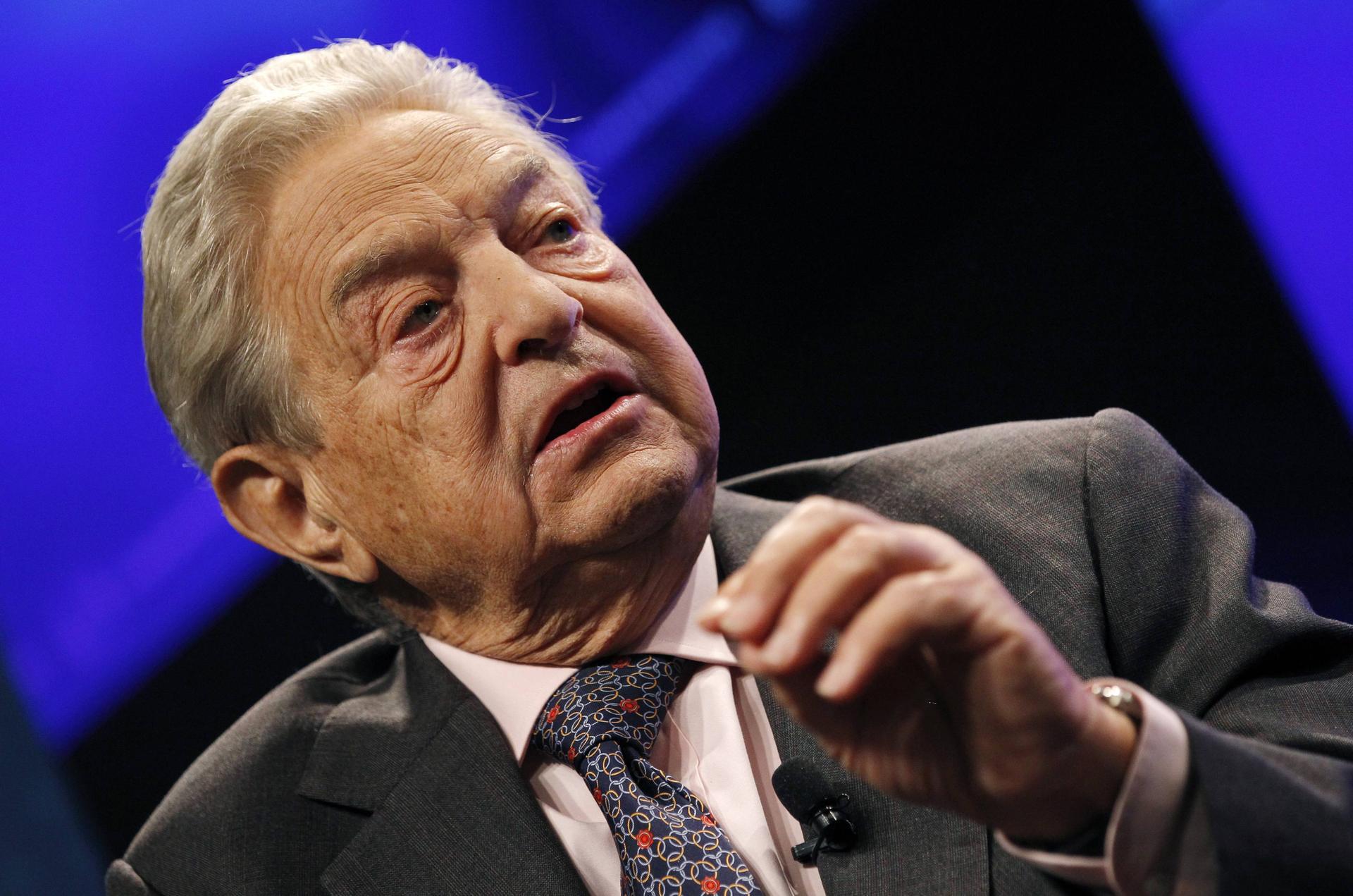 George Soros spreker tijdens EFC AGA en Conference