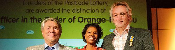 Oprichters Postcode Loterij krijgen Koninklijke onderscheiding