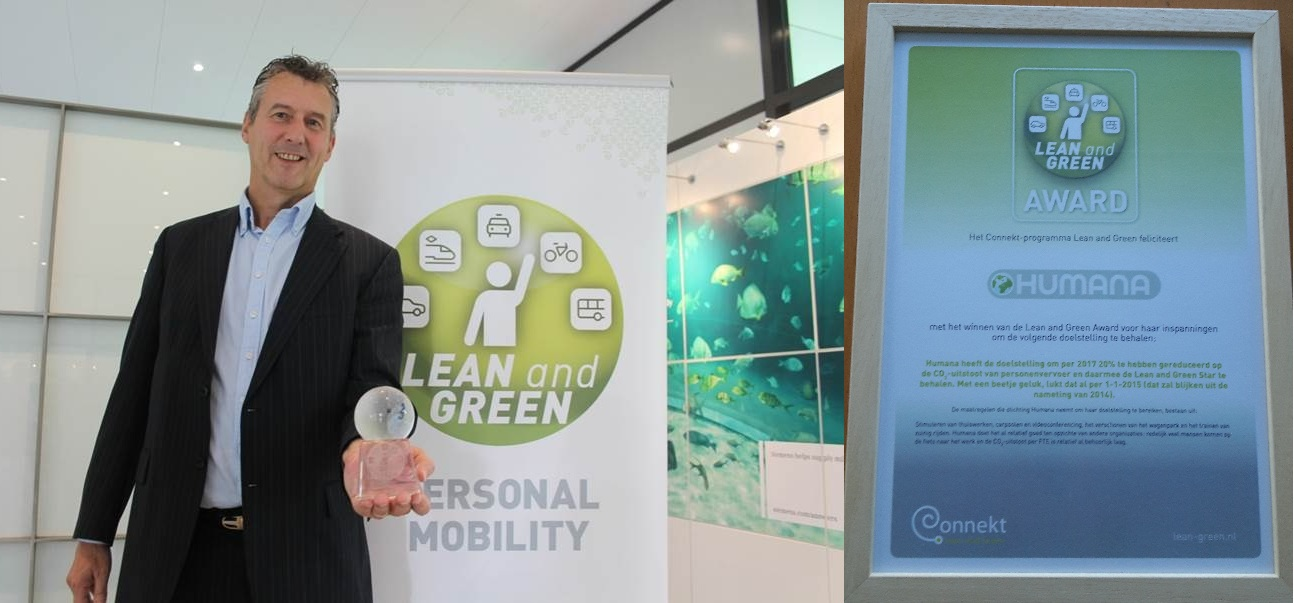 Humana wint Lean and Green Personal Mobility Award