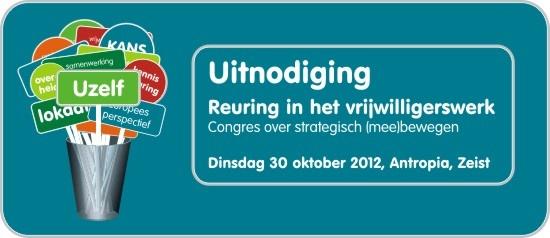 Congres Reuring in het vrijwilligerswerk op 30 oktober