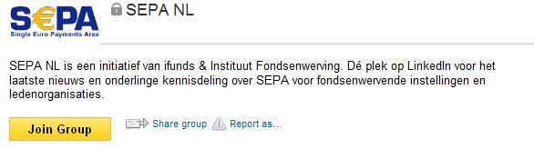Ifunds & Instituut Fondsenwerving lanceren LinkedIn groep over SEPA