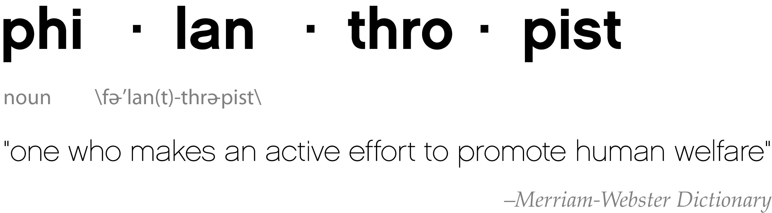 Hoe ziet de 'gemiddelde filantroop' eruit?