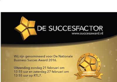 Alzheimer Nederland branchewinnaar Nationale Business Succes Award