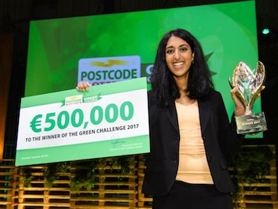 EarthEnable wint Postcode Lottery Green Challenge met duurzaam alternatief voor cement