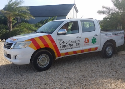 Pick-up ambulance voor Echo op Bonaire