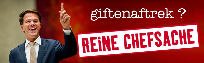 Giftenaftrek is Chefsache