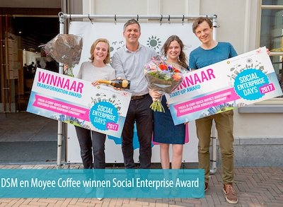 De winnaars DSM en Moyee Coffee