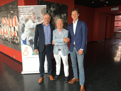 Peter Sprenger (CEO Techonomy), Nike Boor (directeur Fonds Gehandicaptensport) en Willem Rossieau (CEO GX Software).