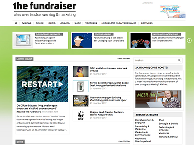Fundraiser Homepage
