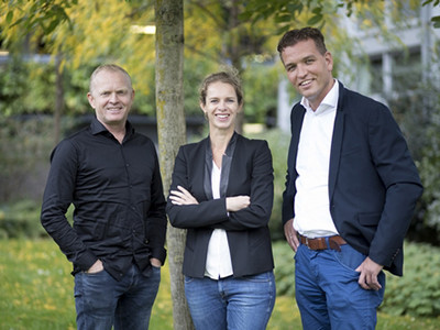 De verkenners: André Hendrikse, Marjan Volkerink en Willem Greving.