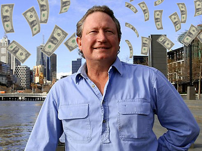 IJzermagnaat Andrew Forrest deed megaschenking in 'down under'