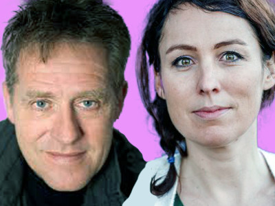 Oud-wielrenster Marijn de Vries presenteert het programma ene cabarettier Peter Heerschop sluit het op originele wijze af