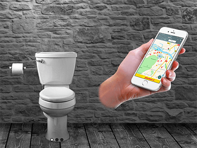 Met de Hoge Noodapp kunnen overheden en ondernemers hun opengestelde toiletruimte aanmelden.