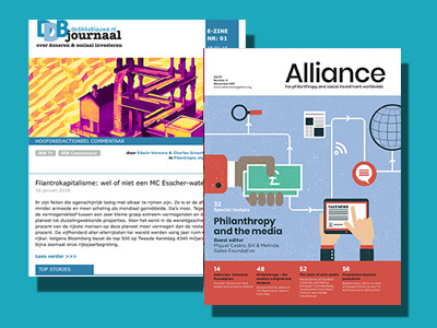 Teaming up: Alliance Magazine en De Dikke Blauwe.