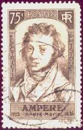 André-Marie Ampère on a French stamp