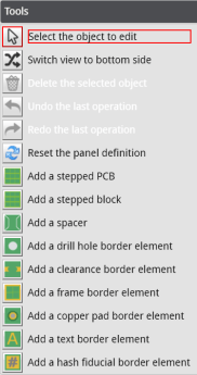 eurocircuits panel editor advanced tools menu
