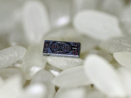 Optical gyro dwarfed by a grain of rice