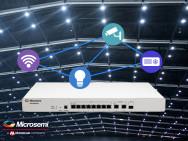 8-Port-Switch unterstützt den neuen Power-over-Ethernet-/PoE-Standard IEEE 802.3bt für kostengünstige intelligente Beleuchtungssysteme