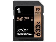 SD-KarteLexar Professional 633x SDHC/SDXC mit 1 TB. Bild: Lexar