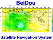 Couverture satellite du système Beidou.
