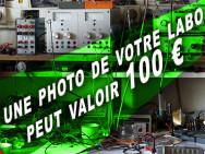 100 € pour la photo de votre labo personnel